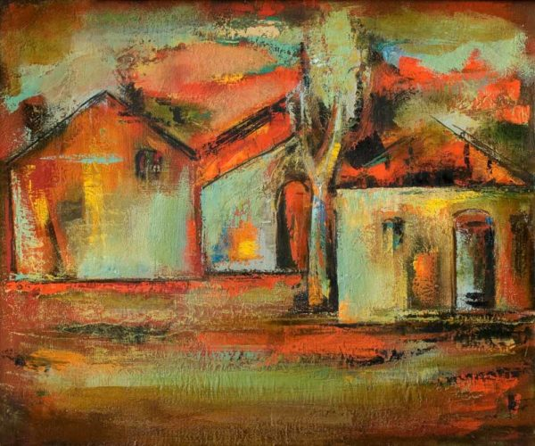 Red roofs, 50х60, oil on canvas, 2002