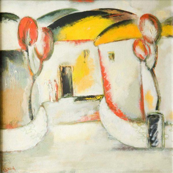 Tune of my village, 80х80, oil on canvas, 2009