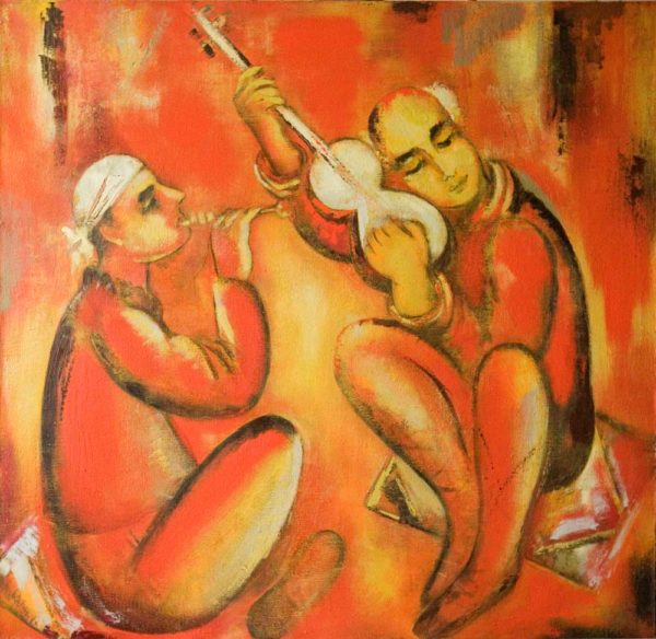 Music, 105х105, oil on canvas, 1994-2000