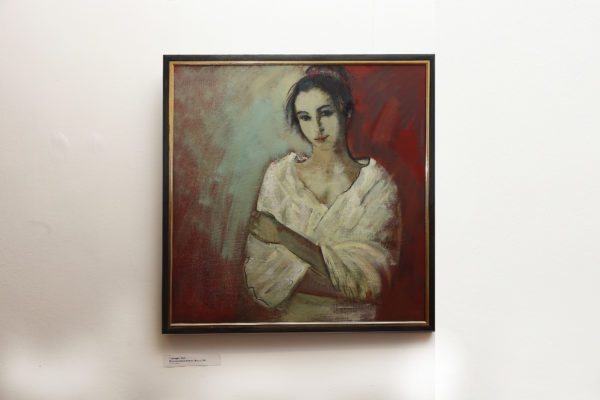 Незаконченный портрет. Ирина, 85х85, х.м., 2016