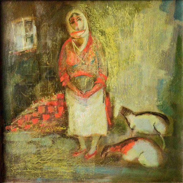 Одиночество, 79х79, х.м., 1994