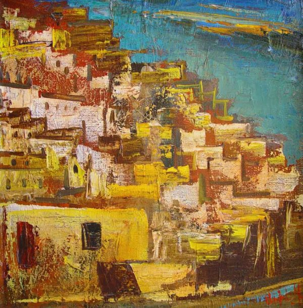 Landscape, 40х40, oil on canvas, 1988