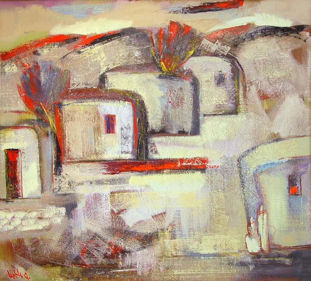 хм 90х100 00 1 - Landscape, 90х100, oil on canvas, 2000