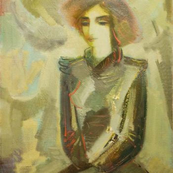 Аиды 100х80 350x350 - Aida's portrait, 100х80, oil on canvas, 1994