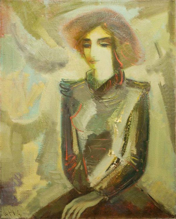 Aida's portrait, 100х80, oil on canvas, 1994