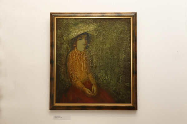 Karina's portrait, 80х70, oil on canvas, 1991
