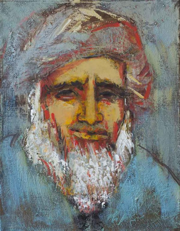 Portrait of an oldman, 40х30, oil on canvas, 2009