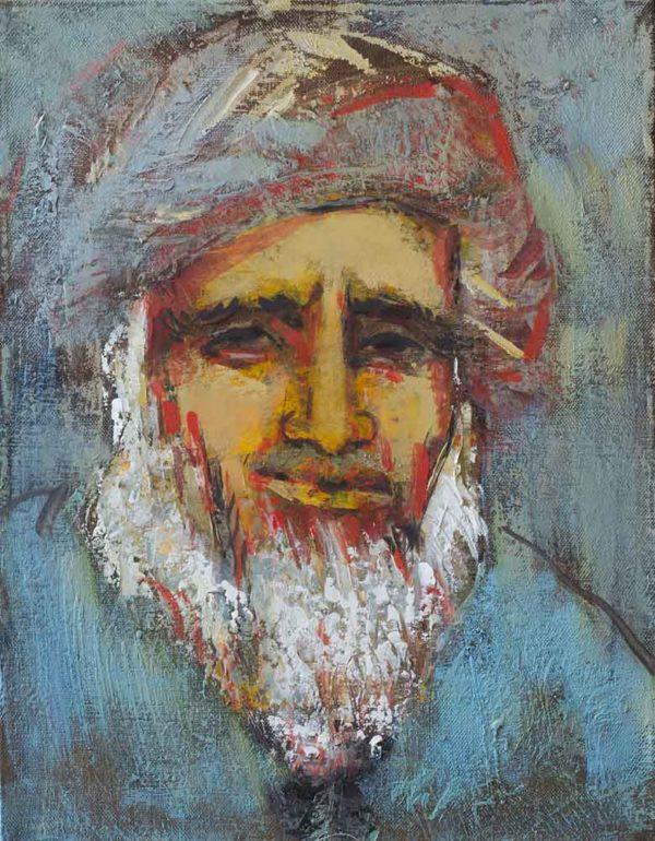 Портрет старика, 40х30, х.м., 2009