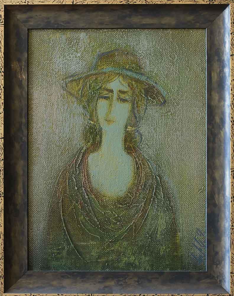 2000 х.м. 35х25 2 - Portrait, 35х25, oil on canvas, 2000
