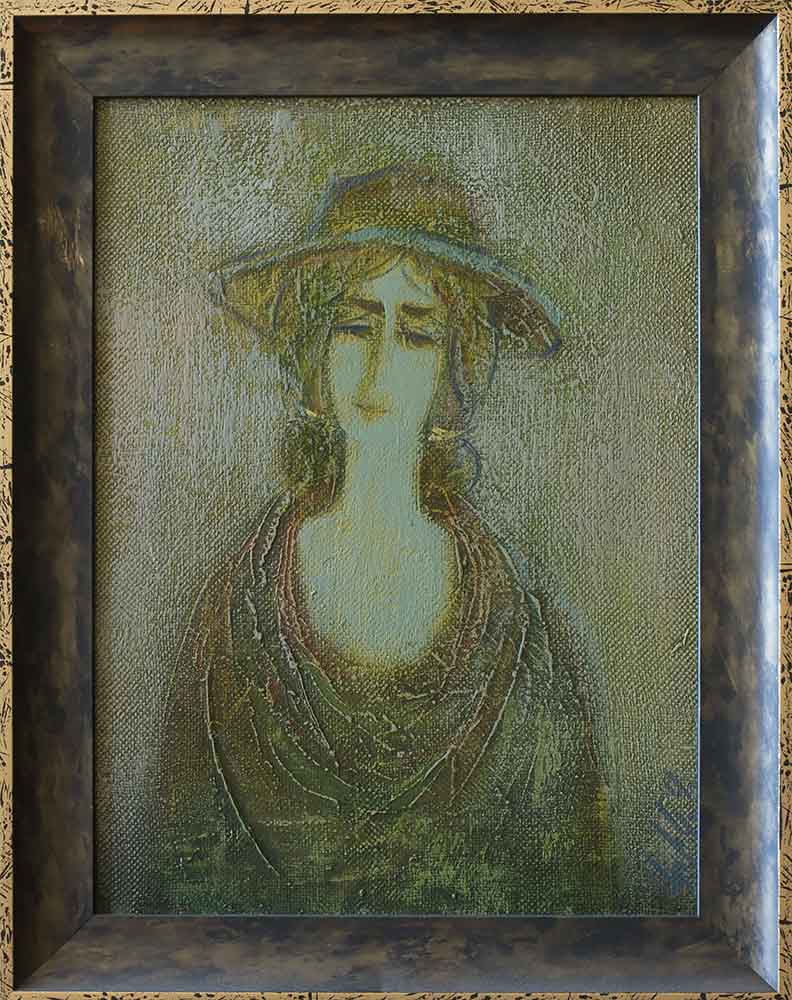 2000 х.м. 35х25 - Портрет, 35х25, х.м., 2000