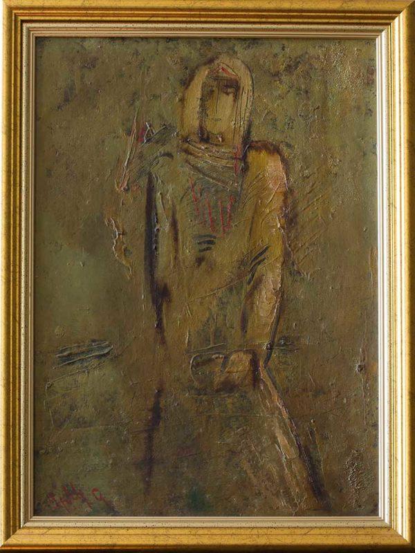 Пробуждение, 50х40, картон/масло, 1993