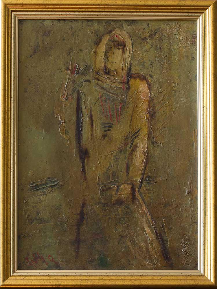 км 1993 50х40 - Пробуждение, 50х40, картон/масло, 1993