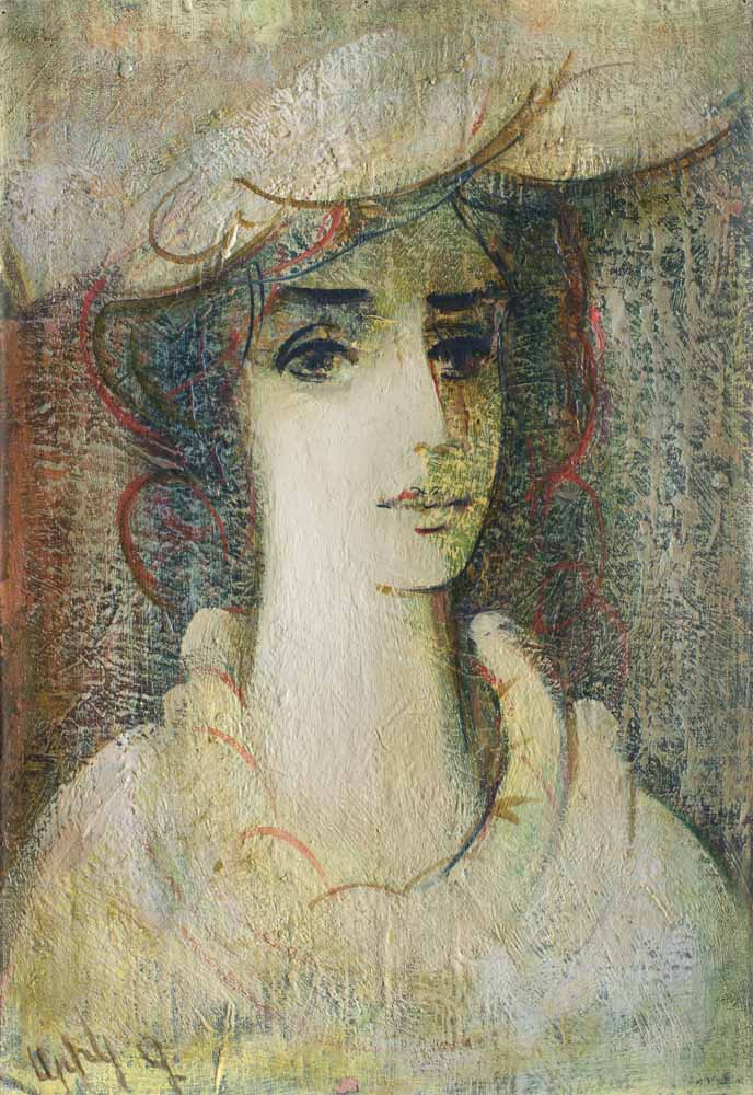 портрет. Холст масло. 49х34. 1994 2 - Light portrait, 49х34, oil on canvas, 1994