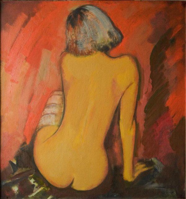 Sitting model, 85х80, oil on canvas, 2009