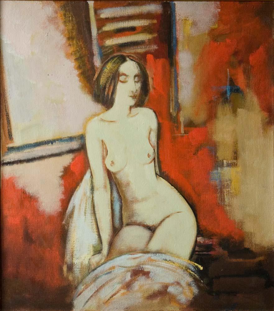 окна хм 85х75 2005 1 - By the window, 85х75, oil on canvas, 2005
