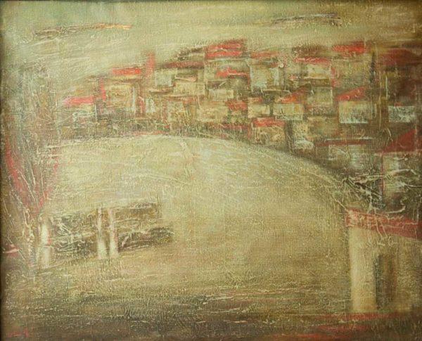Kherkhan Village, 80×100, oil on canvas, 1991