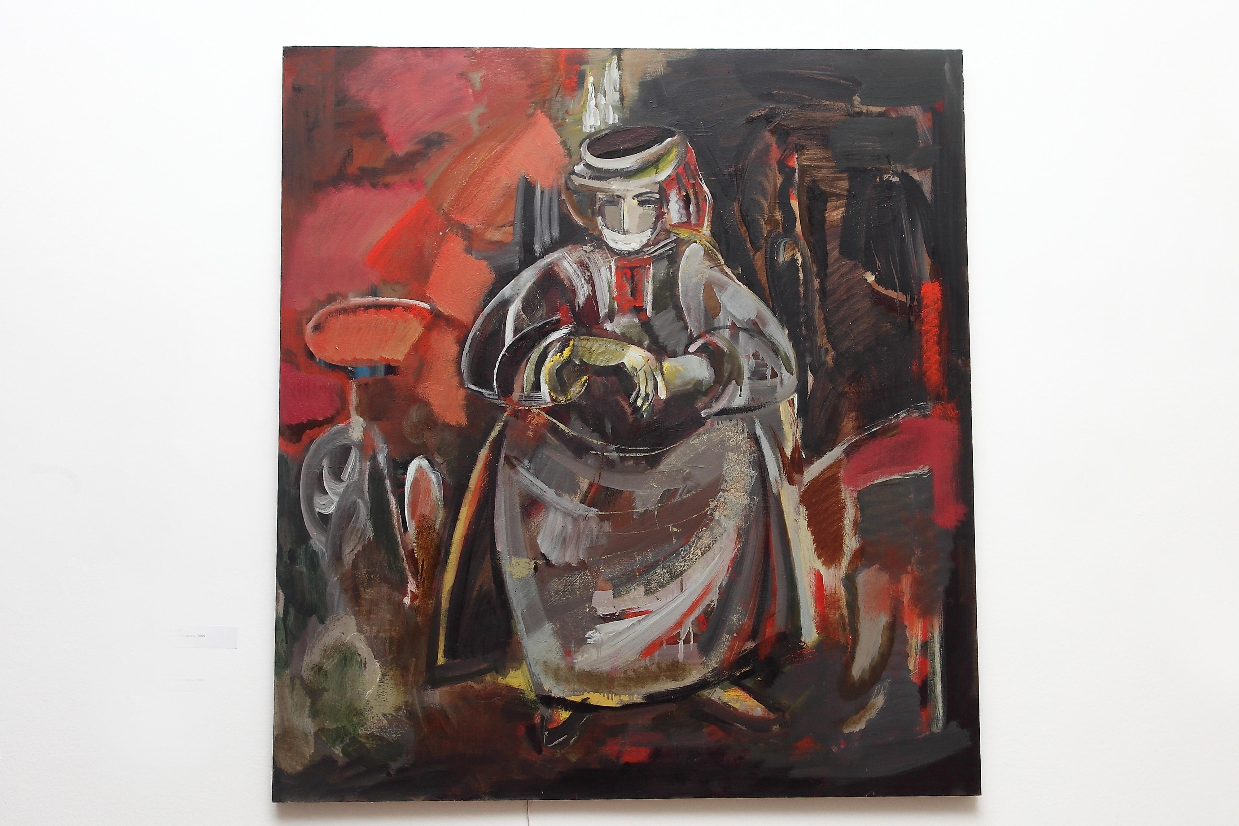 армянка 130х120 х.м. 2009 - An Armenian Woman of Karabakh, 130x120, oil on canvas, 2009