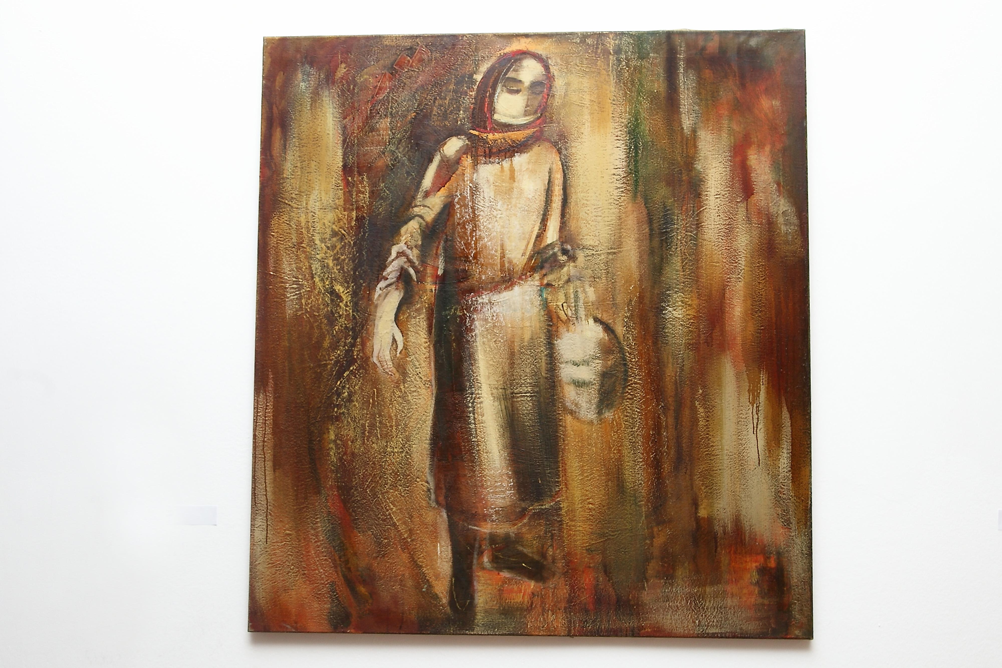 роднику 2007 х.м. 120х110 - To the spring, 120x110, oil on canvas, 2007