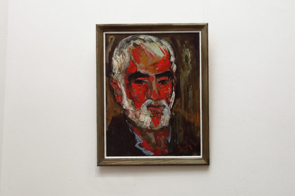 Portrait of Artyush, 52×41, oil on faberboard, 2014