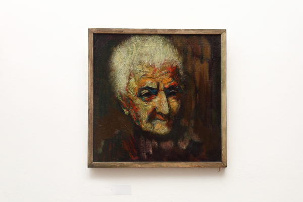 Portrait of an Oldwoman, 50×50, oil on canvas, 2011