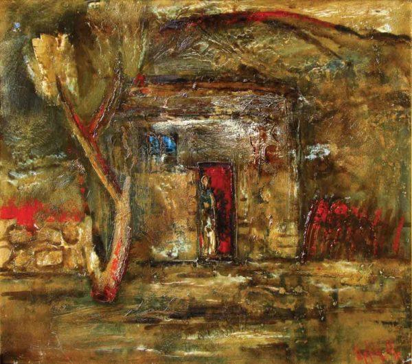 Grey Landscape, 50×56, oil on carton, 2000