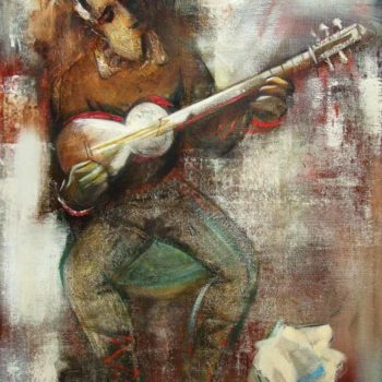 мелодия хм 100х80 2003 350x350 - Armenian melody, oil on canvas, 100x80, 2003