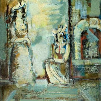 хм 80х60 2008 350x350 - Conversation, oil on canvas, 80x60, 2008