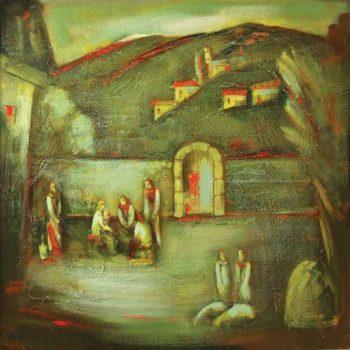 хм 116х116 1996 2001 350x350 - Evening, oil on canvas, 116x116, 1996-2001