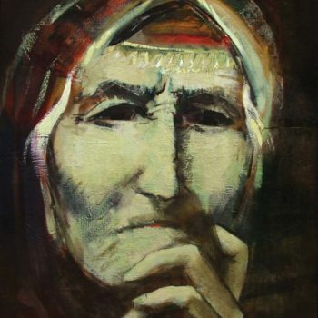 хм 100х80 2006 350x350 - Mother, oil on canvas, 100x80, 2006