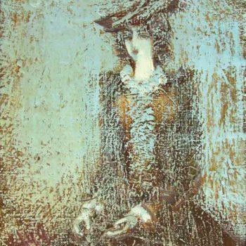 портрет хм 26х23 1999 350x350 - Навеянный портрет, х.м., 26х23, 1999