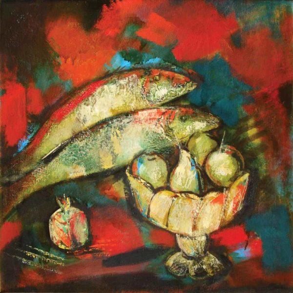 т с рыбой хм 80х80 2004 600x600 - Gallery