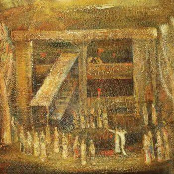 моего села хм 90х80 1989 350x350 - Feast my village, oil on canvas, 90x80 1989