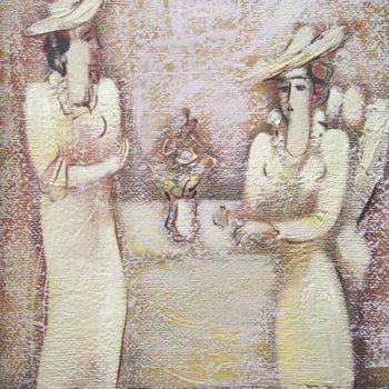 хм 39х29 95 350x350 - Conversation, canvas, oil, 39x29, 1995