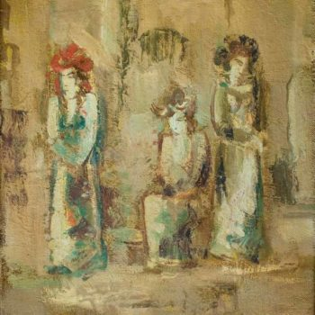 хм 50х40 2008 350x350 - Actresses, 50х40, oil on canvas, 2008