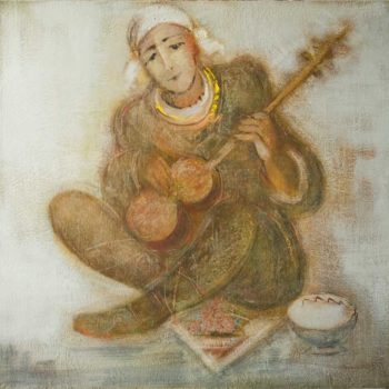 мелодия 80х80 хм 2010 350x350 - Oriental melody, 80х80, oil on canvas, 2010