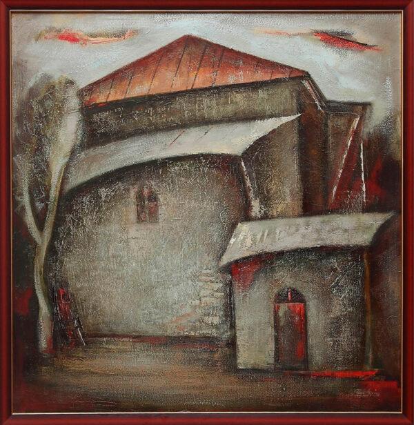 с красной крышей 2009 2011 хм 1 1 600x616 - Landscapes