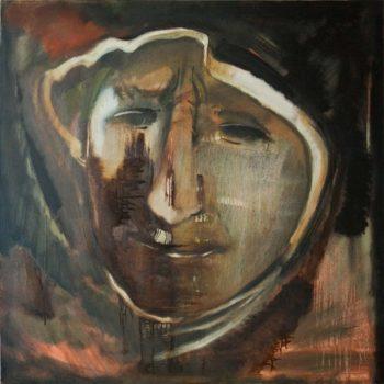 портрет 100х100 хм 2011 350x350 - Женский портрет, 100х100, х.м., 2011