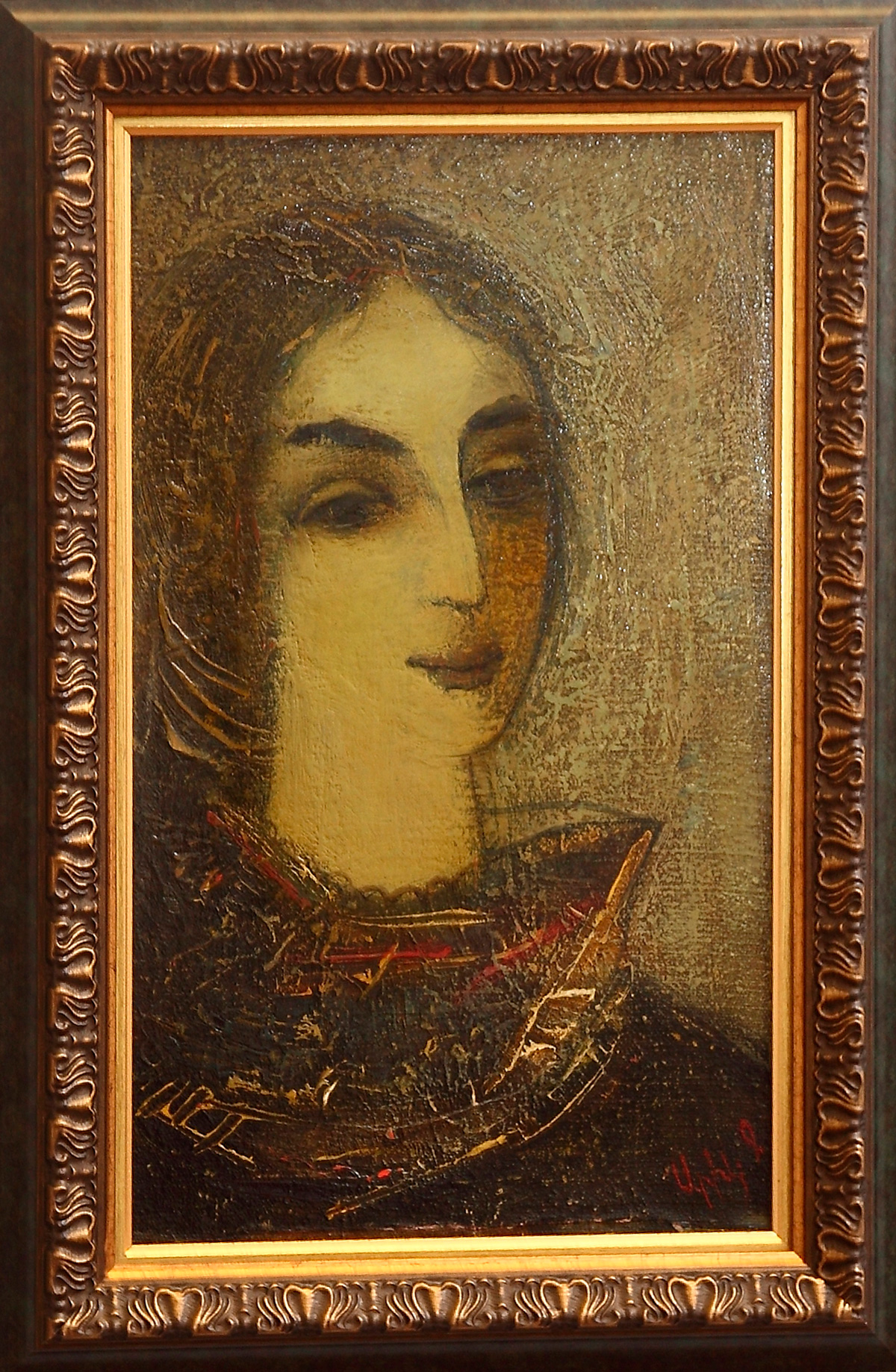 портрет 1982 хм 3 - Женский портрет, 50х30, х.м., 1982