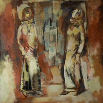 Арцаха 2008 хм 140х130 350x350 - Women of Artsakh, 140х130, oil on canvas, 2008