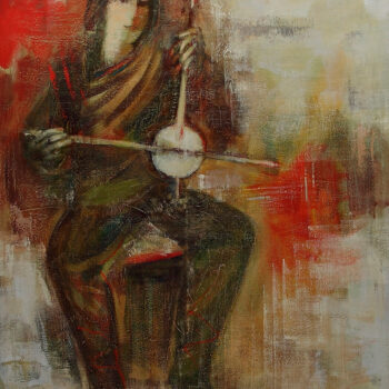 мелодия 2003 хм 1 3 350x350 - Forgotten melody, 110х90, oil on canvas, 2003