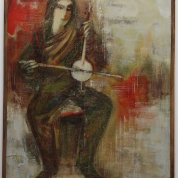 мелодия 2003 хм 350x350 - Forgotten melody, 110х90, oil on canvas, 2003