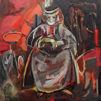 армянка 130х120 х 350x350 - An Armenian Woman of Karabakh, 130x120, oil on canvas, 2009