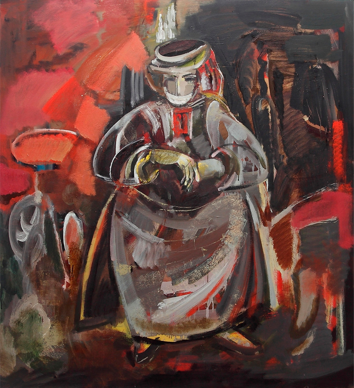 армянка 130х120 х - An Armenian Woman of Karabakh, 130x120, oil on canvas, 2009