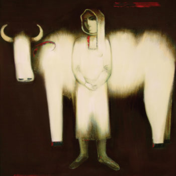 хм 116х110 2001 350x350 - Nurse, 116х110, oil on canvas, 2001