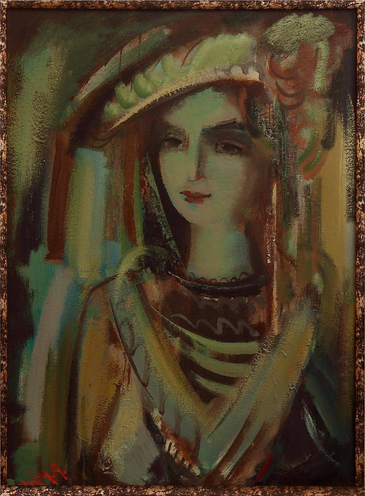 портрет 2007 2009 хм 3 - Inspired portrait, 80х60, oil on canvas, 2007-2009