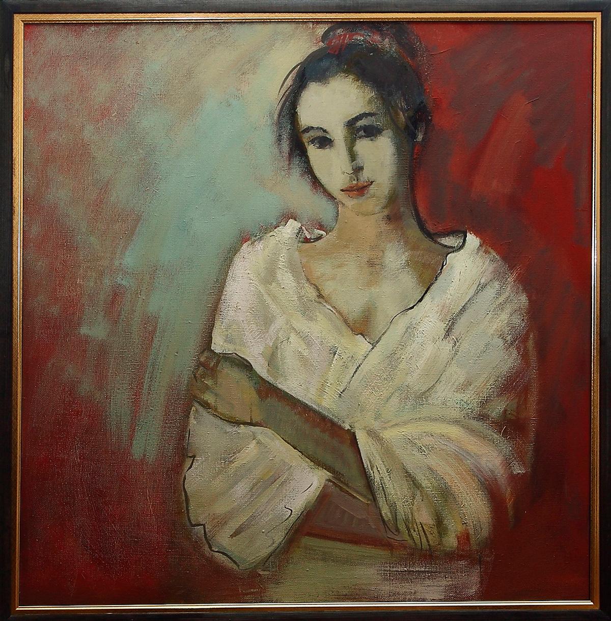 портрет 1 - Незаконченный портрет. Ирина, 85х85, х.м., 2016
