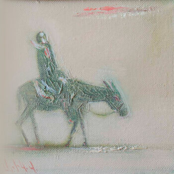 путница 1996 х 2 350x350 - Lonely Wayfarer, 28x28, oil on canvas, 1996