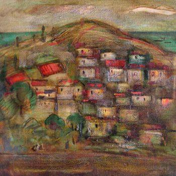 Хорватия хм 58х65 95 350x350 - Пейзаж Хорватия, 58х65, х.м., 1995