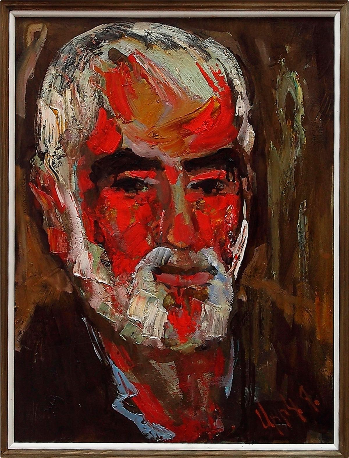 Артюша 2014 52х41 орг - Portrait of Artyush, 52x41, oil on faberboard, 2014