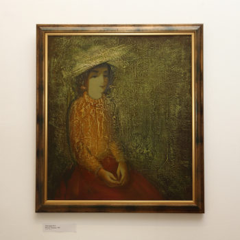 Карины 1991 хм 350x350 - Karina's portrait, 80х70, oil on canvas, 1991